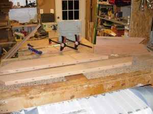 The rest of the mortises are cut