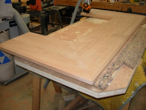 Altar base chamfered