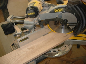 Cutting the miters