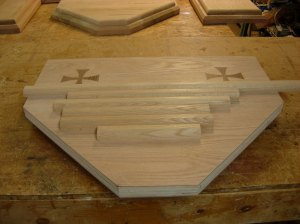 Edge banding cut for the tabernacle stand
