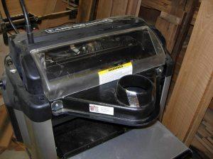 Dust hood mounted