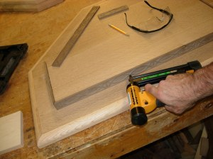 Pin nailing the trim