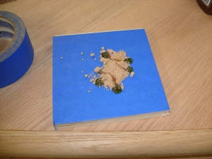 Sawdust and hide glue