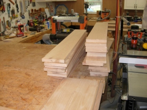 The wood for the columns
