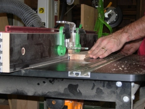 Cutting the second side with router two
