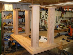 Altar columns finished and located