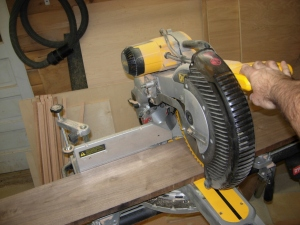 Cutting down the walnut for panels