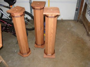 First three columns stained
