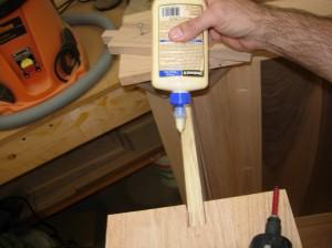 A thin coat of glue