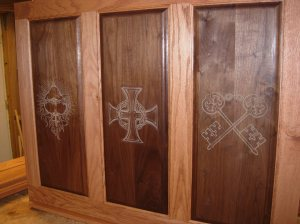Front panel stained