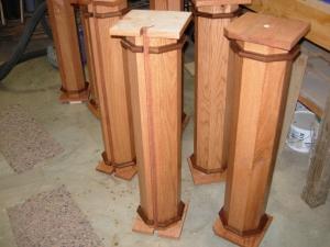 Columns second coat complete