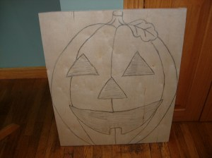 Sketching out the pumpkin