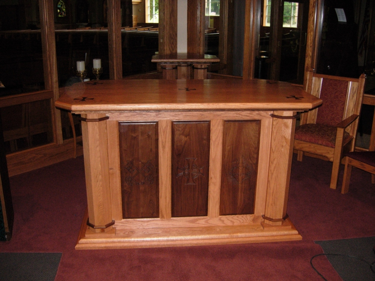 Church Altar And Tabernacle Stand