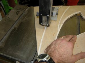 Cutting the outside with a band saw
