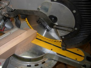 Cutting the leg mounting block