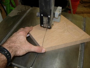 Cutting the arc on the gussets