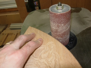Sanding the gussets