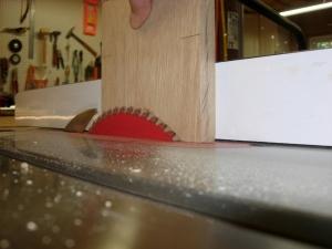Cutting the lower leg taper