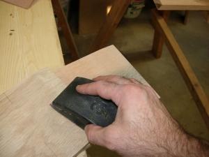 Sanding the taper