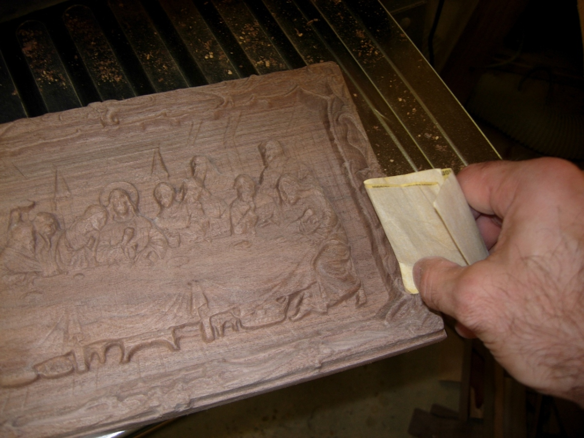 Carving the last supper midnight woodworking