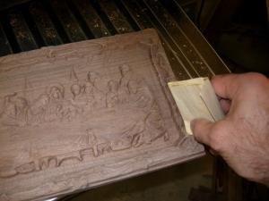 A final hand sanding