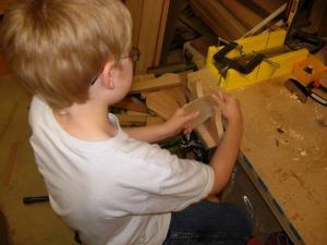 Doing a  little hand sanding