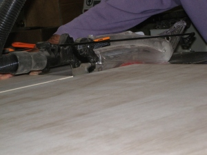 Minimal tear-out on the table saw
