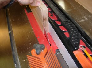 Re-sawing the panels on the table saw