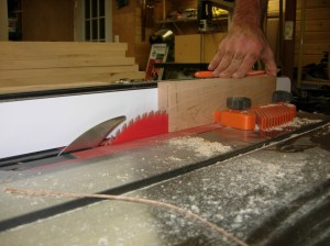 Re-sawing the rest of the boards