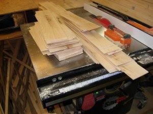 My new pile of veneer...