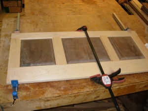 Maple with walnut panels