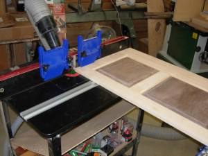 Routing a lock miter