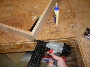 Nailing the base frame