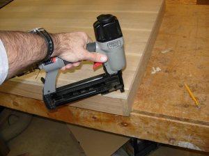 Nailing the plywood down