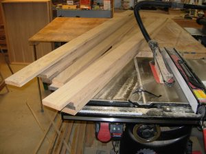 Long boards cut to width