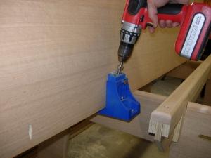 Adding pocket holes to rear panel