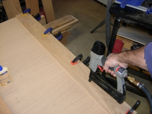 Attaching the stiffeners