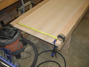 Measuring top and bottom trim pieces