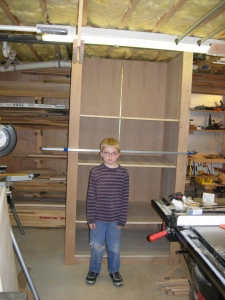 Dry fit with shelves