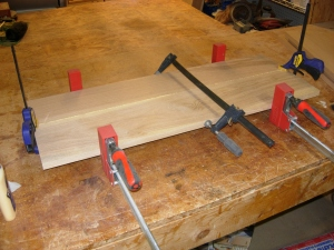 Glueing up door panels