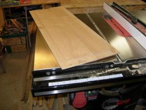 Panels cut