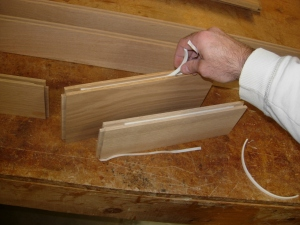 Applying spacer foam