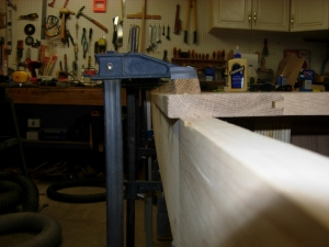 Clamping to a straight board