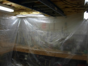 Setting up my temporary spray booth