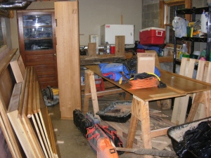 Cabinet in pieces
