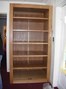 Shelves installed