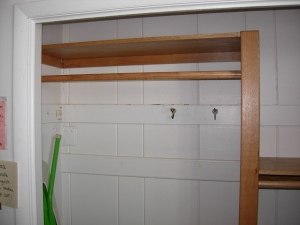 Left side of closet upgrade