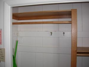 Left side of closet upgrade