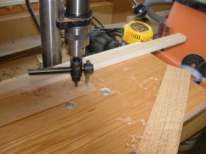 Trying my new adjustable hole saw