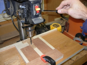 Drill jig for the center holes
